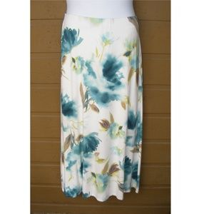 TOMMY BAHAMA Maxi Skirt, L,Watercolor Floral Print